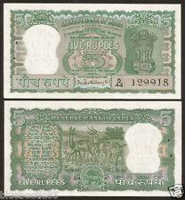 ★★★ 5 Rupees ~ P.C Bhattacharya ~ Diamond Issue ~ UNC ~ C-8 ~ 4 Deer ★★★ bb85