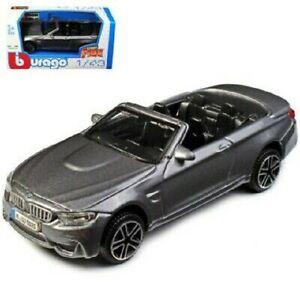 BMW M4 CABRIO BBURAGO MODELLINO DIE CAST 1/43 NUOVA GRIGIO METALLIZZATO