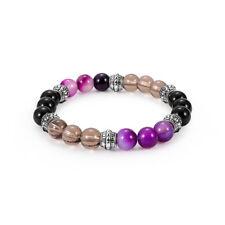 amethyst lava stone alloy excellent jewelry matte agate energy stone bracelet HF
