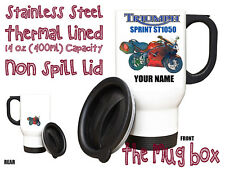 Triumph Sprint ST 1050 Personalised Thermal Steel Mug. Perfect Gift!(MB159)