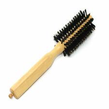Wooden Bamboo Classic Round Hair Brush Boar Bristles Various Sizes - UK