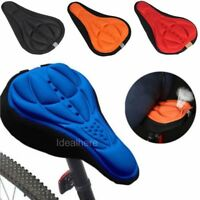 3D Pad Gel Silicone Cycling Bicycle Bike Saddle Cushion Soft Pad Seat Cover US