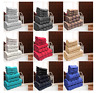 8Pcs Boston 100%Cotton Striped Bale Gift Set Face/Hand/Bath Soft Towel Gym Sport