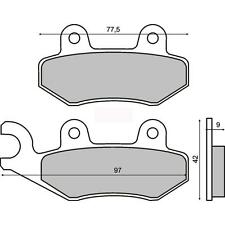 225100580 RMS front brake pads YAMAHA ATV	YFZ 450 (left) 2004 2005