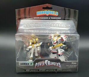 mighty morphin power rangers Hero World White Ranger And Tigerzord Funko