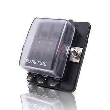 MICTUNING LED Illuminated Automotive Blade Fuse Holder Box 6Circuit Fuse Block