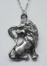 Chain Necklace Pewter ZODIAC #1530 LEO (July 23 - Aug 22) 20mm x 32mm