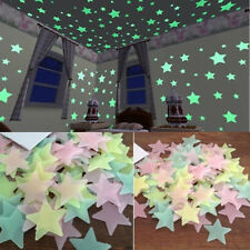100PC Kids Bedroom Fluorescent Glow In The Dark Stars Wall Stickers Home Decor