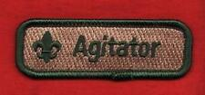 AGITATOR Spoof Comic Trained Patch Boy Cub Scout Leader