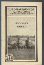 ad1-c 1930's Us Dept of Agriculture Farmers Bulletin # 1199 Judging Sheep 908a
