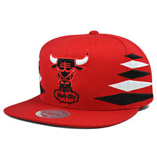 Chicago Bulls VINTAGE DIAMOND Red SNAPBACK Mitchell & Ness NBA Hat