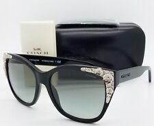 New Coach sunglasses HC8244 500211 56 Black Grey Gradient 8244 AUTHENTIC Flower