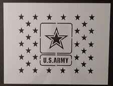 """US Army Stars U.S. USA U.S.A. 11"""" x 8.5"""" Custom Stencil FAST FREE SHIPPING"""