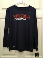 NWT Virginia UVA Cavaliers Nike Dri-Fit Football Long Sleeve T-Shirt Youth Large