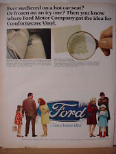 1968 Ford Vinyl Car Seat Cover Upholstery Better Idea Vintage Print Ad 10429