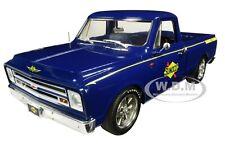 "1967 CHEVROLET C-10 PICKUP TRUCK BLUE ""SUNOCO SHOP TRUCK"" 1/18 CAR ACME A1807211"