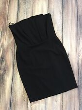 Definitions Dress UK 14 Black Blue Pleated Crumb Catcher Strapless NEW WITH TAGS