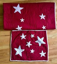 Pottery Barn Kids red white stars TWIN