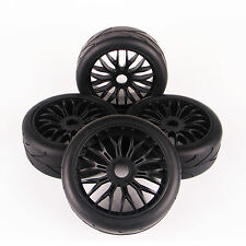 4X 1:8 Tires Tyre Wheel Rim 22046-26007 For HPI HSP Traxxas RC Car On-Road Buggy