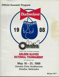 OFFICIAL 1988 NATIONAL GOLDEN GLOVES BOXING PROGRAM OMAHA