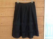Ladies DOTTI Skirt - Black Mesh Fabric With Pleats - Sz8 - Excellent Condition!