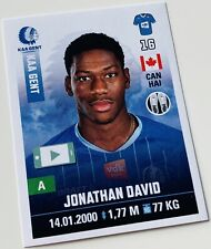 Panini Pro League 2019-20 Sticker - Jonathan David #163 KAA Gent