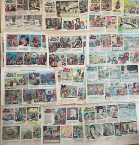 51 Prince Valiant Sunday Comics by Hal Foster half pages from 1966 and 1977