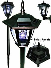 Hexagon Solar powered Coach Lantern, Vintage Style with Soil Stake and Wall Fix