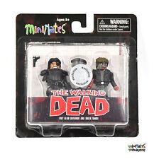 Walking Dead Minimates TRU Toys R Us Wave 4 Riot Gear Governor & Biker Zombie