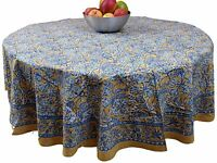 """Handmade Floral Berry Print 100% Cotton Tablecloth 72"""" inches Round"""