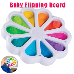 Flower Fidget Toys Sensory Simple Dimple Stress Relief Kids Adult Flipping Board