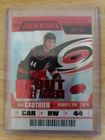 2019-20 UD Credentials DEBUT TICKET ACCESS RED PARALLEL #/99 Julien Gauthier #94