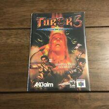 Turok 3 Shadow of Oblivion N64 Nintendo 64 Instruction Manual Only