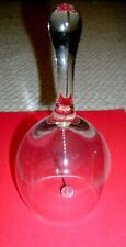 Clear Glass Holiday Christmas Bell