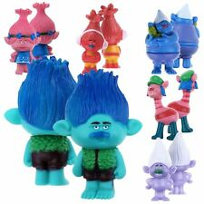 6PCS Moive Trolls Poppy Branch Cute Action Figure Kids Toys Gift 9CM Dolls