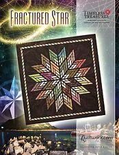 Fractured Star Paper Pieced Foundation Quilt Pattern by Judy Niemeyer New