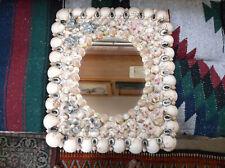 "Vtg Seashell Wall Mirror Artisan Handcrafted Created Frame Shells  19'T x 15""w"