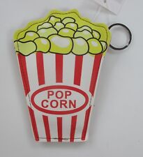 Popcorn Fun Food COIN PURSE wallet KEY CHAIN keychain ring Ganz Vegan leather