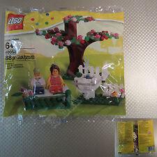 New LEGO Seasonal Spring Scene 88 Pcs Set 40052 Retired Frog Tree Fountain