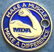 BLUE MDA MAKE A MUSCLE MAKE A DIFFERENCE Pathtag Geocaching