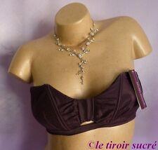 PRINCESSE TAM TAM soutien gorge taille 2 violet lingerie neuf avec étiquettes