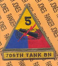US Army 705th Tank Bn 5th Armored Division patch
