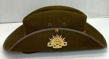 Vintage Australian Military Slouch Hat
