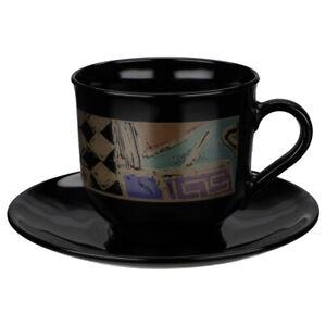Kaffeetasse mit Untere Arcoroc Metallic abstract