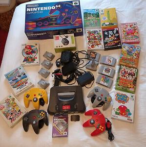 Console Nintendo 64 + 15 Jeux ( Mario, Goldeneye , donkey ) + Accessoires  !!!