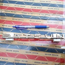 DATSUN BLUEBIRD 410 411 Emblem Badge Rear Trunk Lid Genuine Parts NOS
