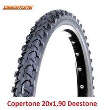 """1 Copertone Deestone 20x1,90 Nero Tassellato per Bici 20"""" MTB Mountain Bike"""