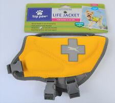 New Top Paw Yellow Neoprene Reflective Dog Life Jacket Size XS 5-15 lbs