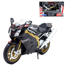 Welly 1:10 Aprilia RSV 1000R Factory Motorcycle Model Bike Gold Black