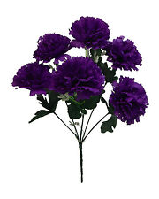 6 Carnations ~ MANY COLORS ~ Centerpieces Bridal Silk Wedding Flowers Bouquets